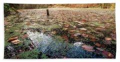 Leaves On The Lake Bath Towel