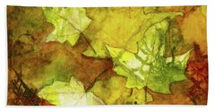 Leaves Bath Towel by Terry Honstead