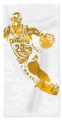 Lebron James Cleveland Cavaliers Pixel Art 15 Hand Towel