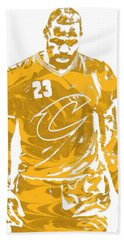 Lebron James Cleveland Cavaliers Pixel Art 21 Hand Towel