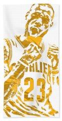 Lebron James Cleveland Cavaliers Pixel Art 9 Hand Towel
