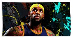 Bath Towel featuring the painting Lebron by Richard Day