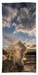 Ledge Geyser Yellowstone N P Bath Towel