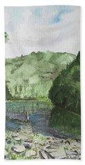 River Bath Towel by Christine Lathrop