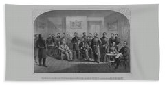 Lee Surrendering To Grant At Appomattox Bath Towel