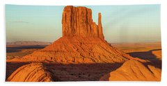 Left Mitten Sunset - Monument Valley Bath Towel