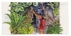 Legend Of The Kopeka Cave Hand Towel