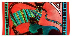 Legend Of The Siamese - Cat Art By Dora Hathazi Mendes Hand Towel