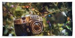 Leica Christmas Hand Towel