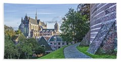 Leiden, The Church And The Castle Hand Towel