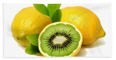Lemon Kiwi Bath Towel