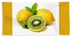 Lemon Kiwi Bath Towel