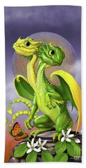 Hand Towel featuring the digital art Lemon Lime Dragon by Stanley Morrison