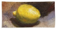 Lemon Still Life Hand Towel