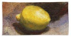Lemon Still Life Bath Towel