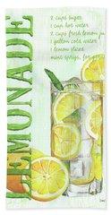 Hand Towel featuring the painting Lemonade by Debbie DeWitt