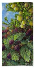 Lemons And Berries Hand Towel by Laurie Morgan