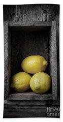 Lemons Still Life Hand Towel