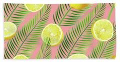 Lemons Bath Towel by Uma Gokhale