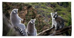 Lemur Family Bath Towel