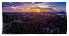Lenoir North Carolina  Sunset Bath Towel