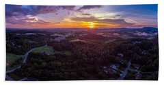 Lenoir North Carolina  Sunset Bath Towel