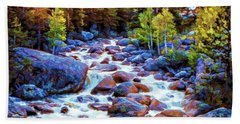 Hand Towel featuring the photograph Leo Falls by Dave Luebbert