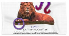 Leo Sun Sign Hand Towel by Shelley Overton