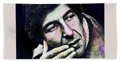 Leonard Cohen - Drawing Tribute Hand Towel