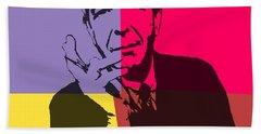 Leonard Cohen Pop Art Panels Hand Towel