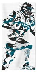 Leonard Fournette Jacksonville Jaguars Pixel Art 11 Hand Towel