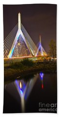 Leonard P. Zakim Bunker Hill Bridge Reflection Hand Towel