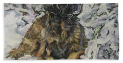 Leonberger In The Snow Hand Towel