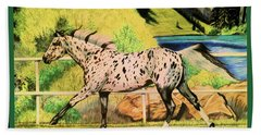 Leopard Appaloosa - Dream Horse Series Bath Towel by Cheryl Poland