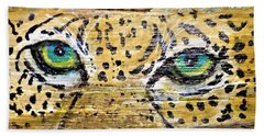 Leopard Eyes Bath Towel by Ann Michelle Swadener