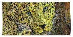Leopard Gaze Hand Towel