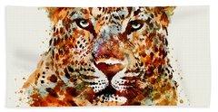 Leopard Head Watercolor Hand Towel