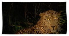 Leopard Hiding Bath Towel
