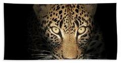 Leopard In The Dark Bath Towel