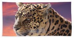 Leopard Portrait Bath Towel