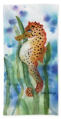 Leopard Seahorse Hand Towel