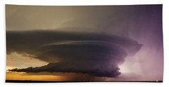 Leoti, Ks Supercell Hand Towel by Ed Sweeney