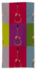 Les Paul Colorful Poster Hand Towel by Dan Sproul