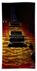 Guitar Custom Quilt Top Spotlight Series Bath Towel