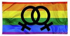 Lesbian Symbols Hand Towel