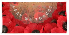Lest We Forget - 1914-1918 Bath Towel