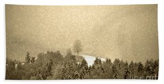 Bath Towel featuring the photograph Let It Snow - Winter In Switzerland by Susanne Van Hulst