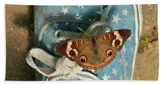 Let Your Spirit Fly Free- Butterfly Nature Art Hand Towel