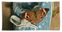 Let Your Spirit Fly Free- Butterfly Nature Art Bath Towel