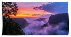 Letchworth Sunrise Hand Towel by Mark Papke